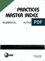 ATT Practices Master Index - 1985