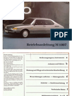 1987 SAAB 900 Owners Manual German [OCR]
