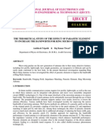 The Theoretical Study of the Effect of Parasitic Element to Increase the Bandwidth for Ring Micro Strip Antenna