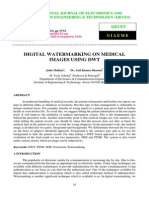 Digital Watermarking on Medical Images Using Dwt