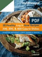 Cookbook 30 Recipes Under 400 Calories