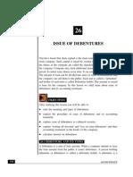 Issues of Debentures