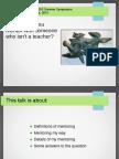 Mentoring Presentation