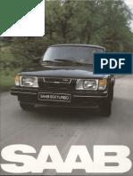 82 Saab 900 Brochure [OCR]