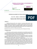 Power Management of Wind and Solar Dg
