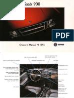 SAAB 900 Owner's Manual [OCR]