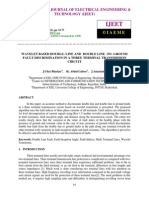 Wavelet Based Double- Line and Double Line -To- Ground Fault Discrimination in a Three Terminal Transmission Circuit
