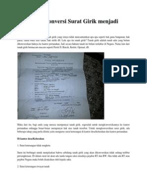Cara Mengkonversi Surat Girik Menjadi Shm