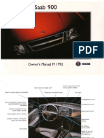 Saab900cv Owners Manual 92 [OCR]