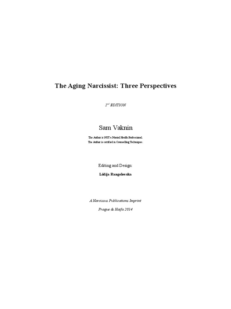 The Aging Narcissist: Three Perspectives | Narcissism | Positive