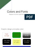 colorsand fonts