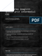Promovarea Imaginii Școlii Prin Intermediul CDI