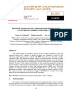 Behavior of Concrete Damaged by High Temperature Exposureand Confined With Cfrp Fabrics