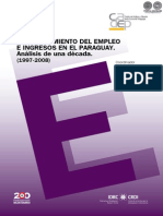 COMPORTAMIENTO DEL EMPLEO EN EL PARAGUAY - 1997 A 2008 - PORTALGUARANI