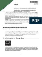 Lenovo G470G475G570G575 Product Specific Notices V1.0 (Spanish)