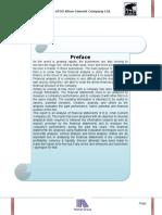 Financial Analysis of DG Khan Cement Factory Ratio Analysis