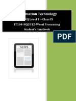 NVEQ SWB IT L1 U4 Word Processing (Basic)
