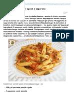 Blog.giallozafferano.it-pennette Gustose Con Speck e Peperone