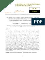 Sand Mining Management and Its Environmental Impact in Cauvery and Kabini River Basins of Mysore District Karnataka