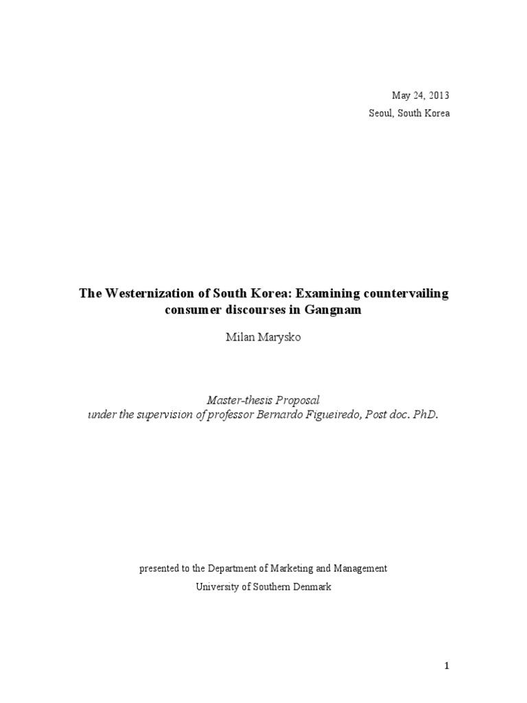 Master thesis proposal qualitative
