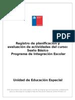Formato Registro de Planificacion Profesor de Aula Modificado Sexto Basico