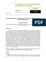 Determination of Variation of Soil Characteristic Due to Lime Stabilization