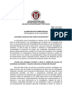 Planificar por Competencias. Julio Cordero