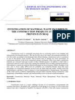 INVESTIGATION OF MATERIAL WASTE INCURRED IN THE CONSTRUCTION PROJECTS AT KARBALA PROVINCE IN IRAQ.pdf