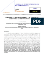 Effect of Natural Rubber on the Properties of Bitumen and Bituminious Mixes