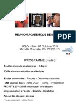 Réunion académique des IEN TICE - Académie Orléans-Tours - 07 10 2014