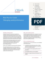 Managing Underperformance Best Practice Guide