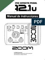 Manual Pedalera Acústica