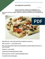 Blog.giallozafferano.it-penne Alla Pancetta Con Peperoni e Pecorino