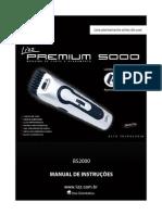 Manual do aparelho de corte de cabelo e acabamento Lizz Premium 5000 Com LED Indicador de Carga