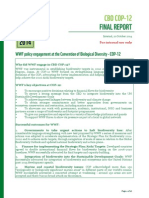 WWF Final Report on Engagement With COP12 November 2014