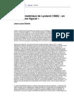 Jean-Louis Déotte - « Les Immatériaux de Lyotard (1985). Un Programme Figural »