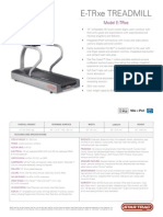 E TRxe Treadmill Spec Sheet