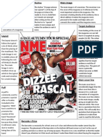 NME Dizzee Rascal Cover Analysis