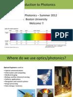 Intro to Photonics