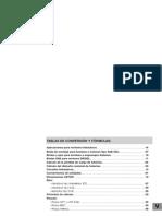 tablas de conversión  para hidraulica