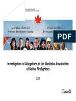 Investigation Of Allegations At The Manitoba Association Of Native Firefighters