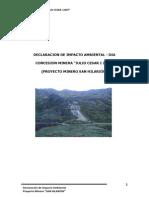DIA Proyecto Minero San Hilarion