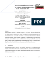 Performance Evaluation of Mutual Funds in Pakistan for the period 2004-2008