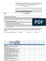 ISO 50001 Audit Checklist