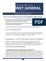 AG Schneiderman Help Guide for NY Fashion Braces patients