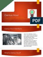 Genius HourTeacher Presentation
