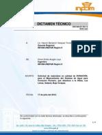 002-12. Dictamen Solicitud de Material Las Limas Salama b.V.