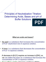 Principles of Neutralization Titration