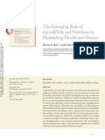The Emerging Role of MicroRNAs and Nutrition in Modulating Health and Disease