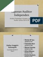 Analisa laporan audit model ISA dan sebelum penerapannya